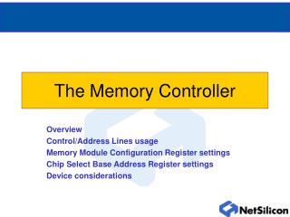 The Memory Controller