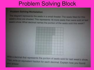Problem Solving Block