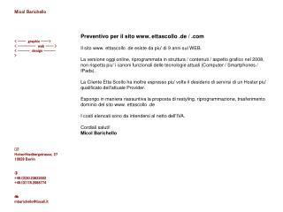Preventivo per il sito  ettascollo .de /