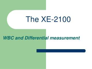 The XE-2100