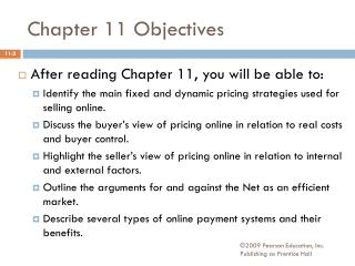 Chapter 11 Objectives