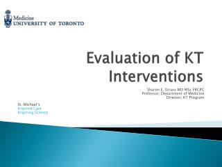 Evaluation of KT Interventions