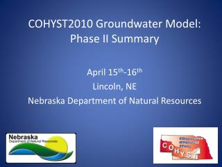 COHYST2010 Groundwater Model: Phase II Summary