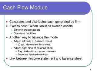 Cash  Flow Module
