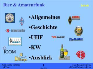 Allgemeines Geschichte UHF KW Ausblick