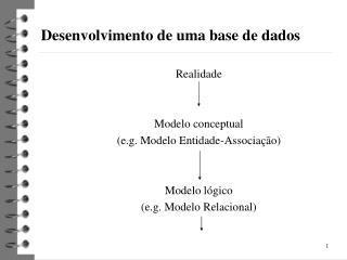 Desenvolvimento de uma base de dados