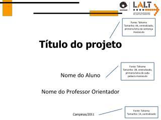 Título do projeto