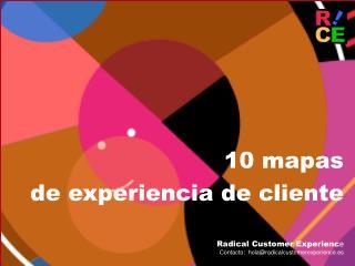 10 mapas  de experiencia de cliente