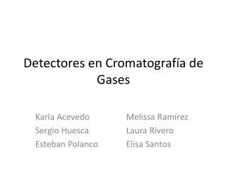 Detectores en Cromatografía de Gases