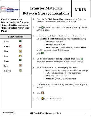 Transfer Materials Between Storage Locations