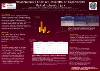 Neuroprotective Effect of Resveratrol on Experimental Retinal Ischemic Injury
