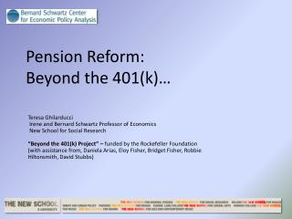 Pension Reform:  Beyond the 401(k)…