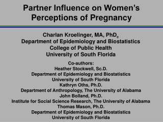 Partner Influence on Women's Perceptions of Pregnancy