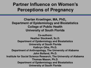 Partner Influence on Women's Perceptions of Pregnancy