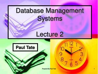 Database Management Systems Lecture 2
