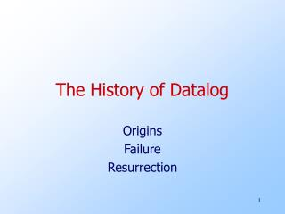 The History of Datalog