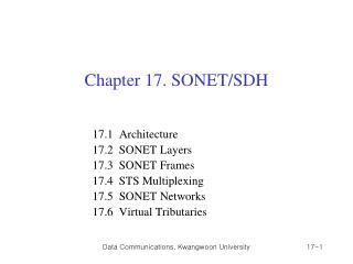 Chapter 17. SONET/SDH
