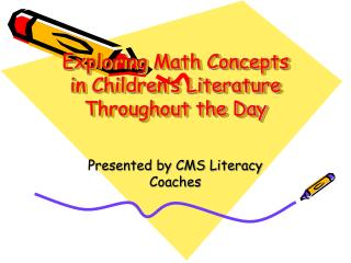 Exploring Math Concepts in Children's Literature Throughout the Day