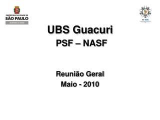 UBS Guacuri PSF – NASF