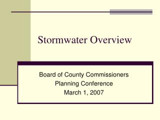 Stormwater Overview