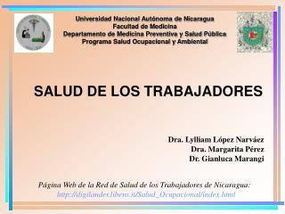 Universidad Nacional Aut noma de Nicaragua Facultad de Medicina  Departamento de Medicina Preventiva y Salud P blica Pro