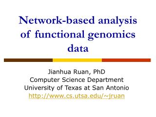 Network-based analysis of functional genomics data