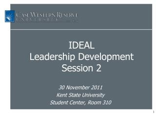 IDEAL  Leadership Development  Session 2