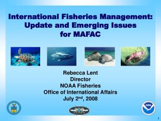 International Fisheries Management: Update and Emerging Issues for MAFAC
