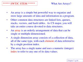 What Are Arrays?