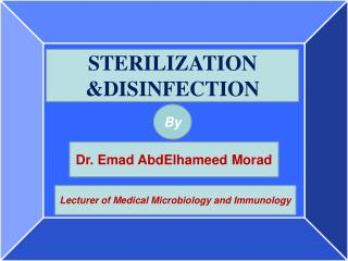 STERILIZATION &DISINFECTION