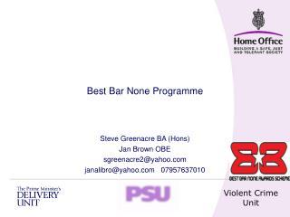 Steve Greenacre BA (Hons) Jan Brown OBE sgreenacre2@yahoo janalibro@yahoo   07957637010
