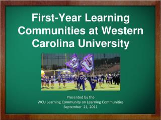 First-Year Learning Communities at Western Carolina University