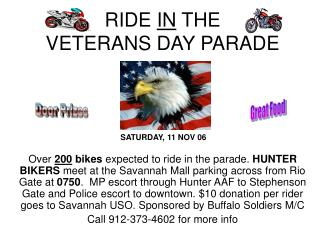 RIDE  IN  THE  VETERANS DAY PARADE
