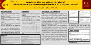 Population Pharmacokinetic Models and  Individualized Bayesian Dose Optimization in HIV-Infected  Patients  Michael Neel