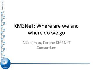 KM3NeT: Where are we and where do we go
