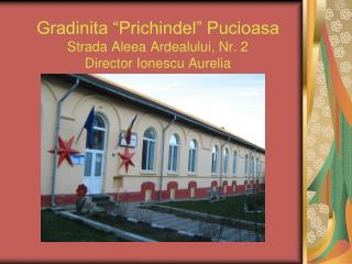 """Gradinita """"Prichindel"""" Pucioasa Strada Aleea Ardealului, Nr. 2 Director Ionescu Aurelia"""