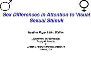 Sex Differences in Attention to Visual Sexual Stimuli
