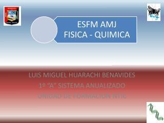 """LUIS MIGUEL HUARACHI BENAVIDES 1º """"A"""" SISTEMA ANUALIZADO UNIDAD DE FORMACION NTIC"""