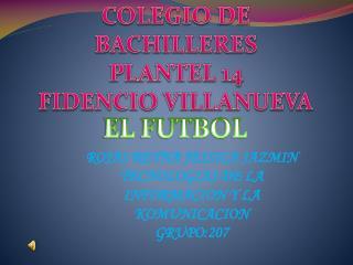 COLEGIO DE  BACHILLERES  PLANTEL 14 FIDENCIO VILLANUEVA