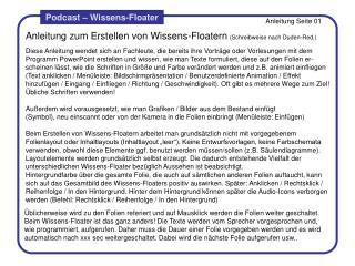 Anleitung zum Erstellen von Wissens-Floatern (Schreibweise nach Duden-Red.)