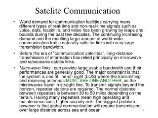 Satelite Communication