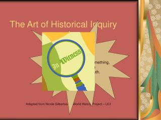 The Art of Historical Inquiry