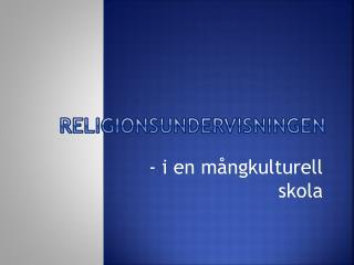 Religionsundervisningen