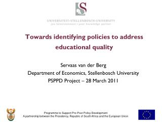 Towards identifying policies  to address educational quality