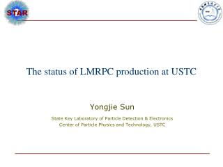 The status of LMRPC production at USTC