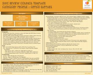 SWC Review Council  TEMPLATE  Category  Profile – Office Supplies