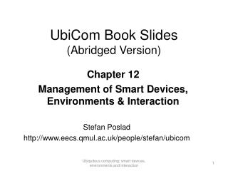 UbiCom Book Slides (Abridged Version)