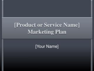 [ Product or Service  Name] Marketing Plan