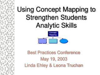 Using Concept Mapping to Strengthen Students Analytic Skills