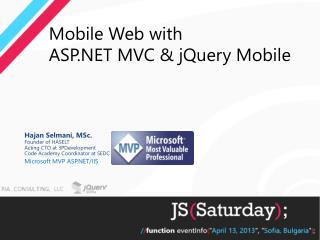 Mobile Web with  ASP.NET MVC & jQuery Mobile